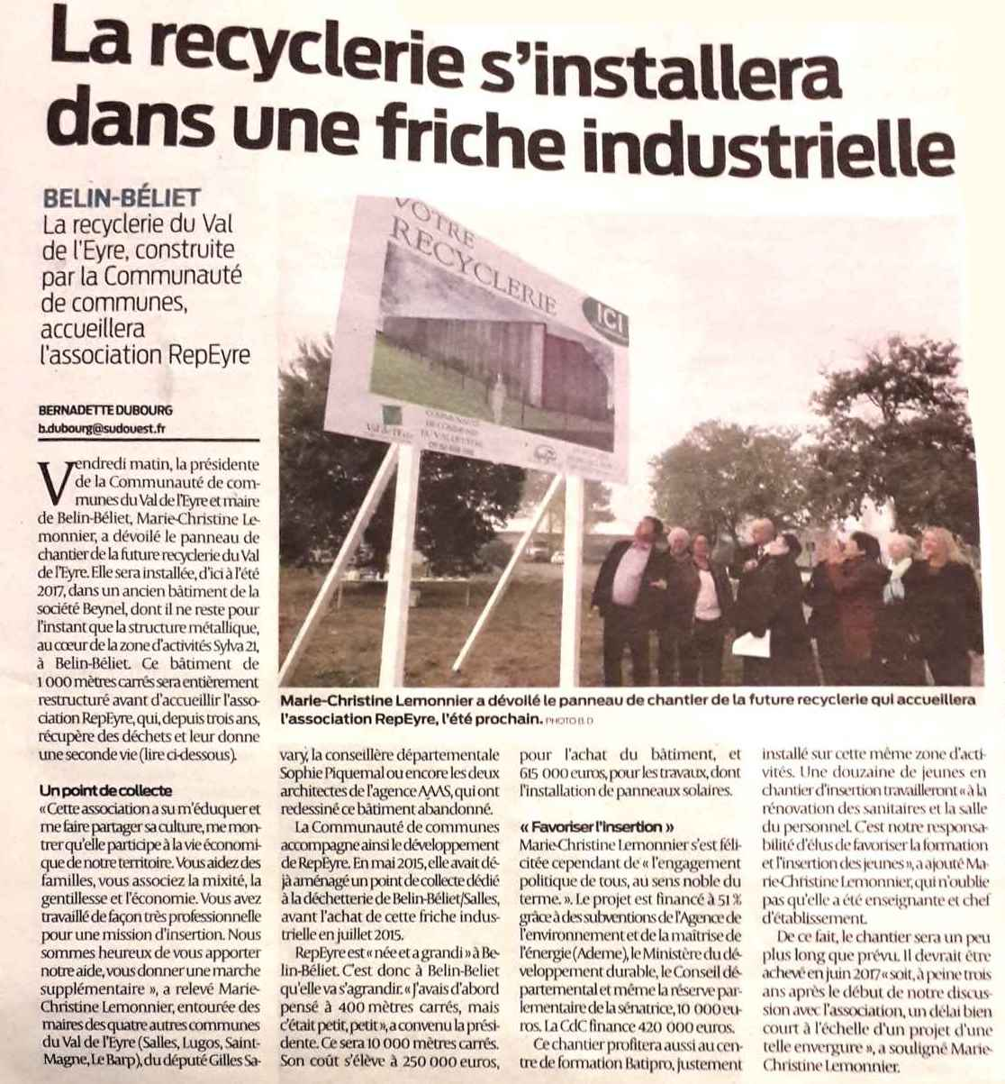 Article SO Lancement travaux 28 oct 2016